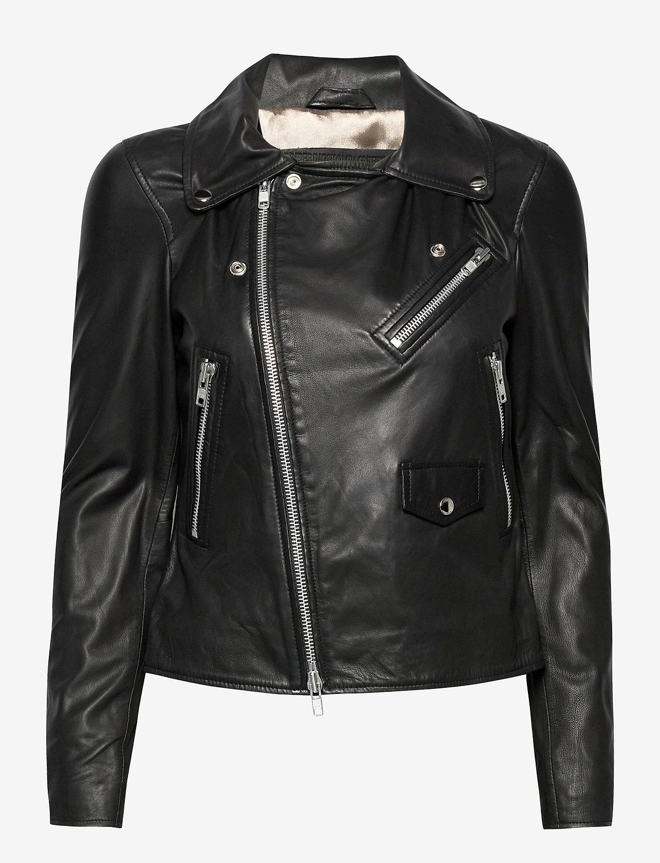 MDK / Munderingskompagniet - Bronco thin leather jacket - skinnjackor - black - 1
