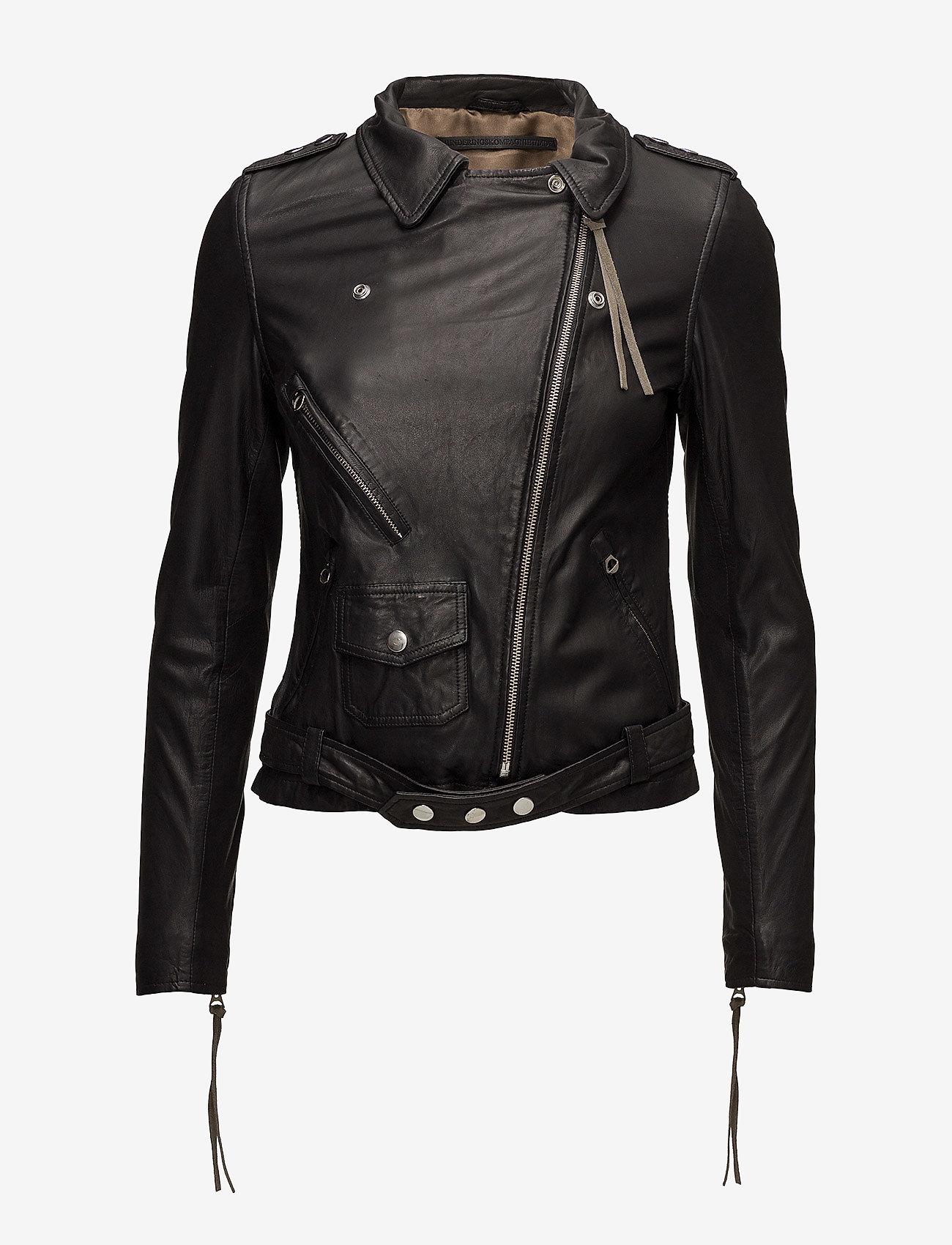 MDK / Munderingskompagniet - London thin leather jacket - skinnjakker - black - 1