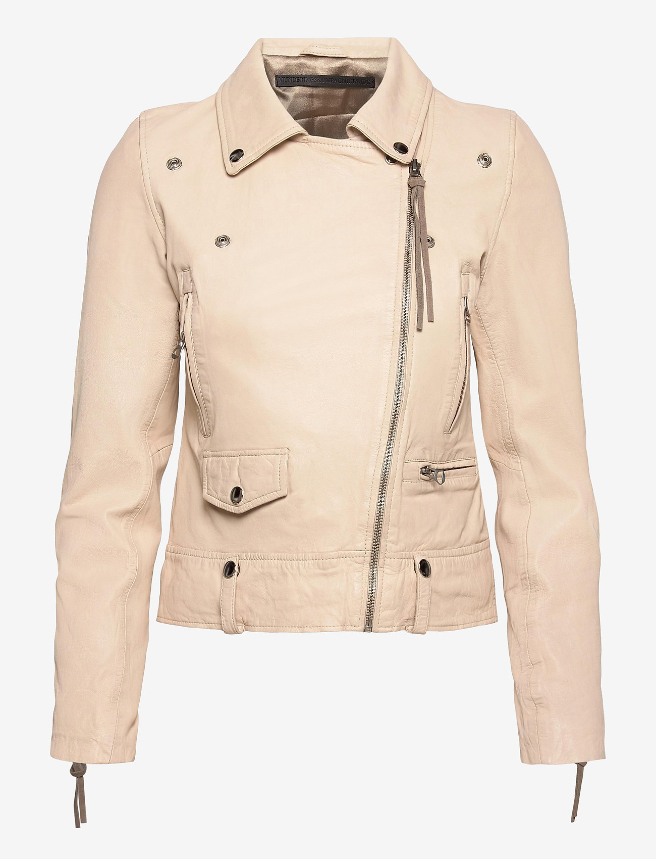 MDK / Munderingskompagniet - Seattle new thin leather jacket (yellow) - skinnjackor - sand shell - 0