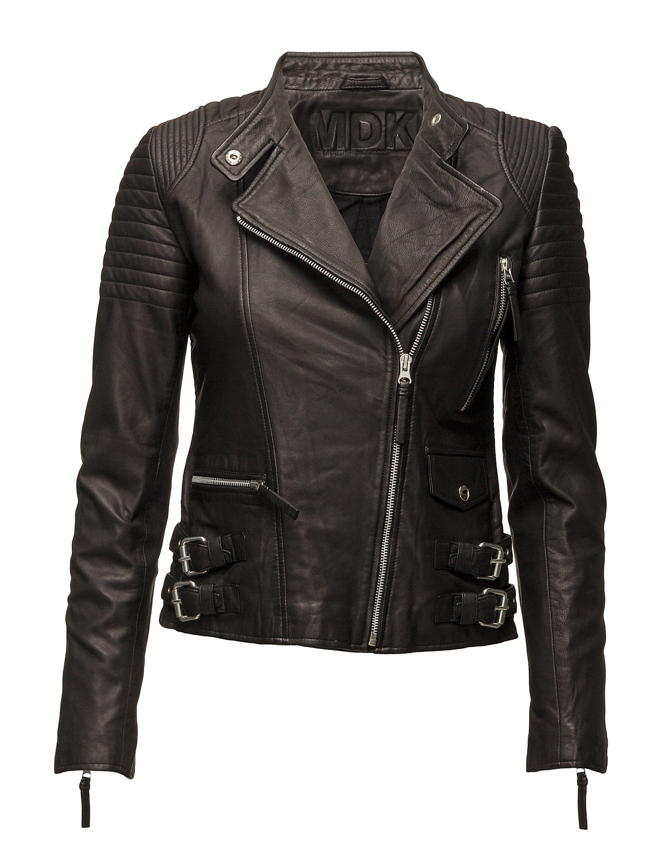 MDK / Munderingskompagniet City biker leather jacket - BLACK
