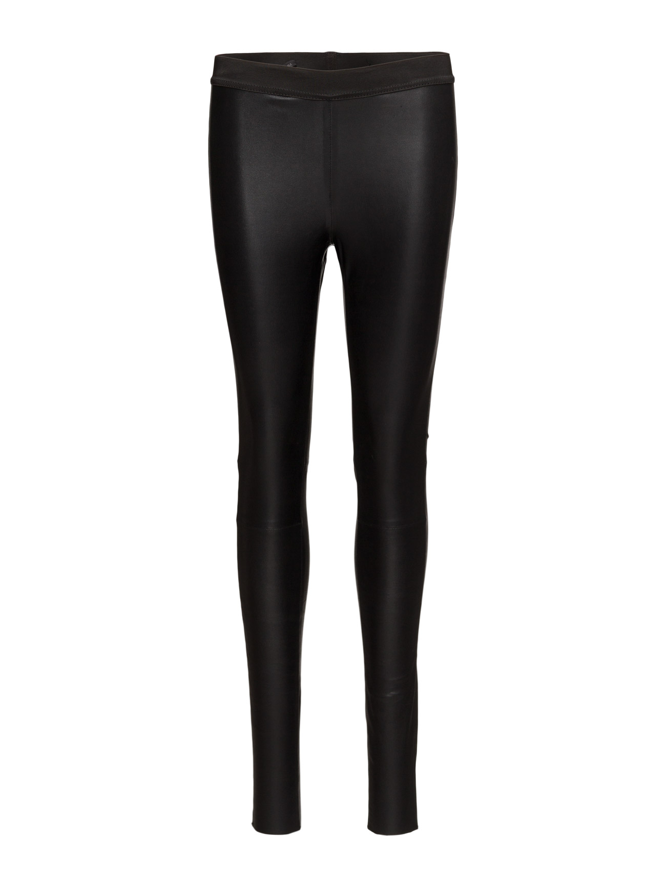Image of Leather Stretch Leggings (Black) (3064304477)