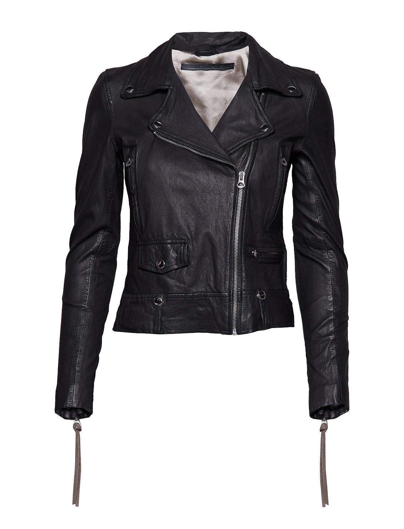 MDK / Munderingskompagniet - Seattle new thin leather jacket (yellow) - skinnjackor - black - 0