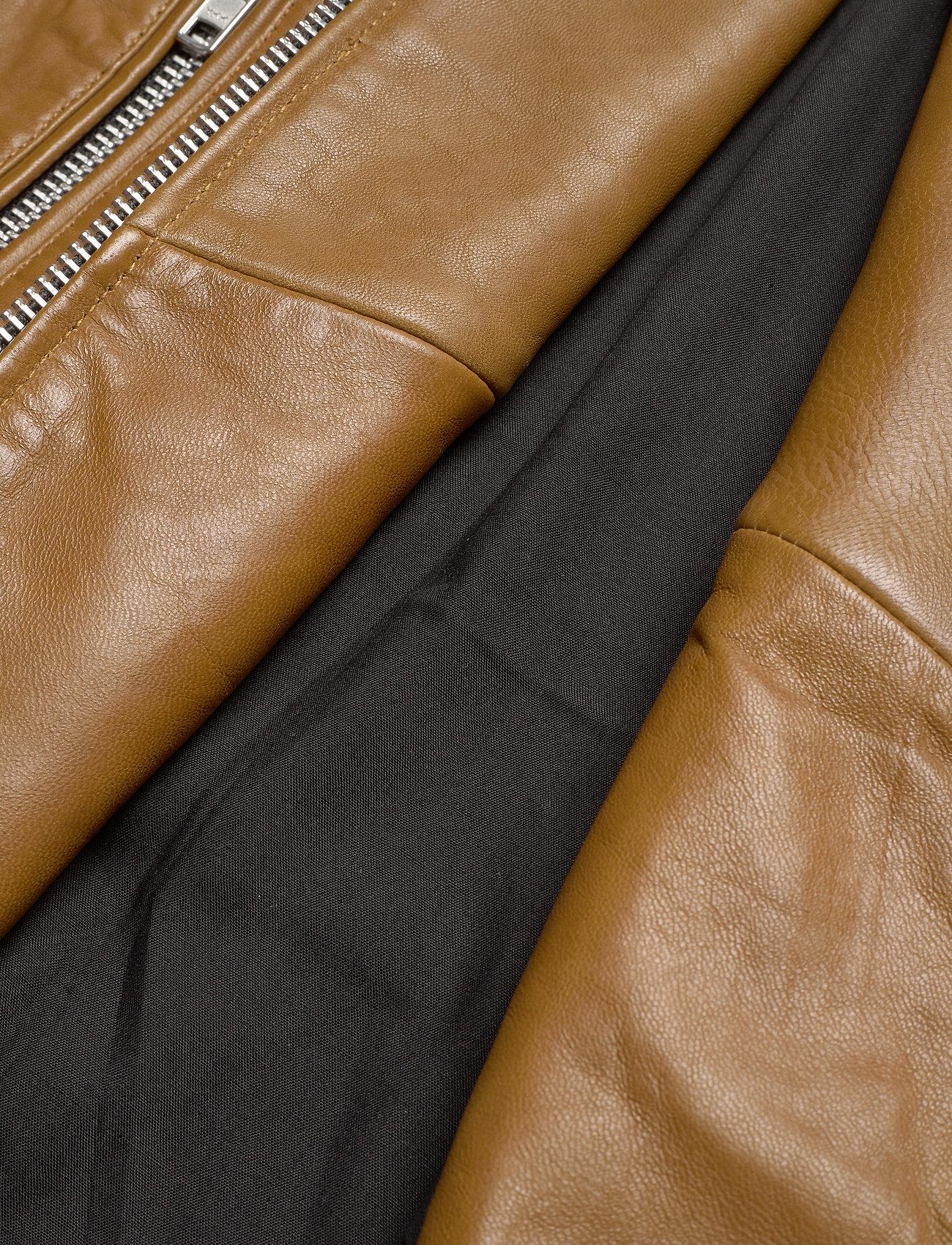 Mdk / Munderingskompagniet Frida Vegetal Leather Jacket (dark Green) - Jackor & Kappor
