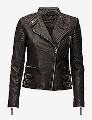 MDK / Munderingskompagniet - City biker leather jacket - skinnjackor - black - 0