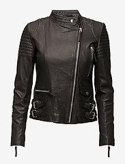 MDK / Munderingskompagniet - City biker leather jacket - skinnjackor - black - 1