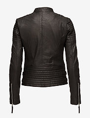 MDK / Munderingskompagniet - City biker leather jacket - skinnjackor - black - 2