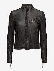 MDK / Munderingskompagniet - Kassandra Leather Jacket - Ādas virsjakas - black - 0