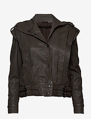 MDK / Munderingskompagniet - Enola leather jacket (bungee cord) - leather jackets - bungee cord - 0