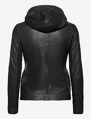 MDK / Munderingskompagniet - Stine hood leather jacket - skinnjackor - black - 1