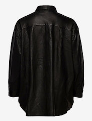 MDK / Munderingskompagniet - Agnes thin leather shirt - overshirts - black - 1