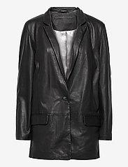 MDK / Munderingskompagniet - Coco thin leather blazer - vardagskavajer - black - 0