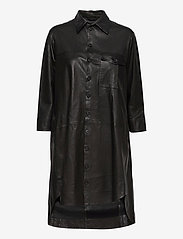 MDK / Munderingskompagniet - Chili thin leather dress - korta klänningar - black - 0