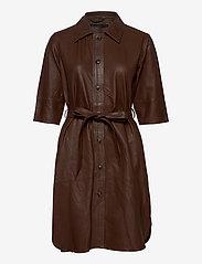 MDK / Munderingskompagniet - Clare thin leather dress - korta klänningar - monks robe - 0