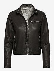 MDK / Munderingskompagniet - Carli thin leather jacket - skinnjackor - black - 0