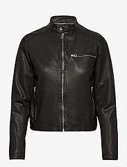 MDK / Munderingskompagniet - Carli thin leather jacket - skinnjackor - black - 1