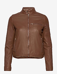 MDK / Munderingskompagniet - Carli thin leather jacket - skinnjackor - monks robe - 0