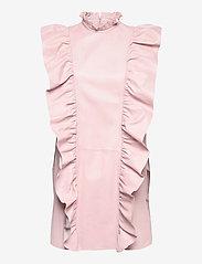 MDK / Munderingskompagniet - Etype thin leather dress - sommarklänningar - peach blush - 0