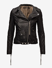 MDK / Munderingskompagniet - London thin leather jacket - skinnjackor - black - 0
