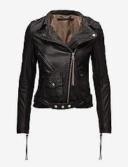 MDK / Munderingskompagniet - London thin leather jacket - skinnjakker - black - 0