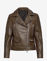 MDK / Munderingskompagniet - Frida vegetal leather jacket (dark green) - leather jackets - dark green - 0