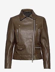 MDK / Munderingskompagniet - Frida vegetal leather jacket (dark green) - leather jackets - dark green - 1