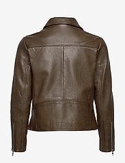 MDK / Munderingskompagniet - Frida vegetal leather jacket (dark green) - leather jackets - dark green - 2