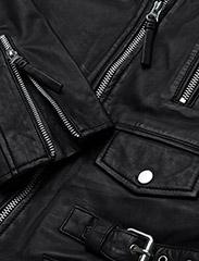 MDK / Munderingskompagniet - City biker leather jacket - skinnjackor - black - 4