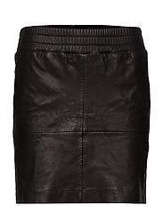 Vera leather skirt - BLACK
