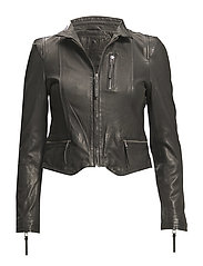 Rucy Leather Jacket - BLACK
