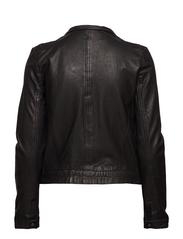 Karla Leather Jacket - BLACK