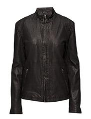 Pede leather jacket - BLACK