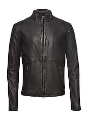 Pede leather jacket - BLACK