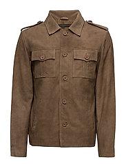 Felix goat suede jacket (dirty brown) - DIRTY BROWN