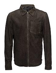 Berlin shirt jacket - DARK BROWN