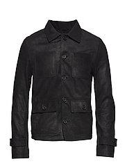 Us bold crackle jacket - BLACK