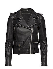 Seattle cow leather jacket - BLACK
