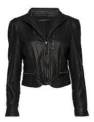 Rucy leather jacket (black) - BLACK