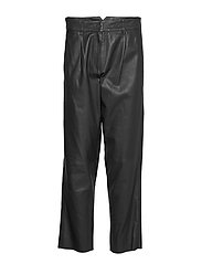 Iris leather pants - BLACK