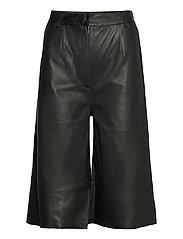 Culotte leather trouser - BLACK