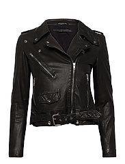 Berlin leather jacket - BLACK