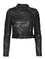 Aia leather jacket - BLACK