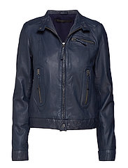 Karla leather jacket (green) - BLUE NIGHT