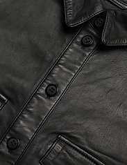 MDK / Munderingskompagniet - Agnes thin leather shirt - overshirts - black - 2