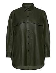 Agnes thin leather shirt - CYPRESS