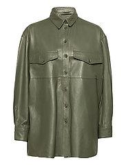 Agnes thin leather shirt - FOUR LEAF CLOVER