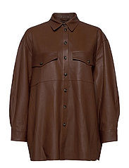 Agnes thin leather shirt - MONKS ROBE