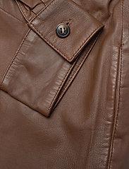 MDK / Munderingskompagniet - Agnes thin leather shirt - overshirts - monks robe - 3