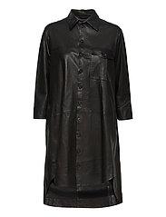 Chili thin leather dress - BLACK