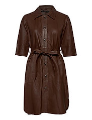 Clare thin leather dress - MONKS ROBE
