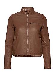 Carli thin leather jacket - MONKS ROBE